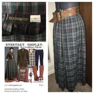 Perfect Outlander plaid skirt